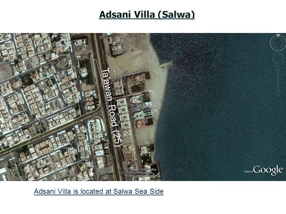 Adsani Villa is located at Salwa Sea Side Ta'awan Road (25)