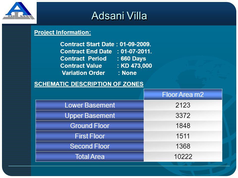 SCHEMATIC DESCRIPTION OF ZONES Floor Area m2 Lower Basement2123 Upper Basement3372 Ground Floor1848 First Floor1511 Second Floor1368 Total Area10222 P