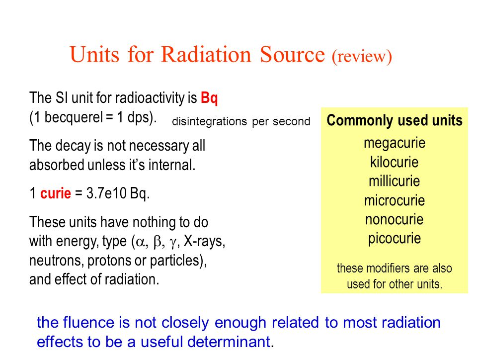 Radiation Absorption and Dosage The amount of energy absorbed from exposure to radiation is called a dose.