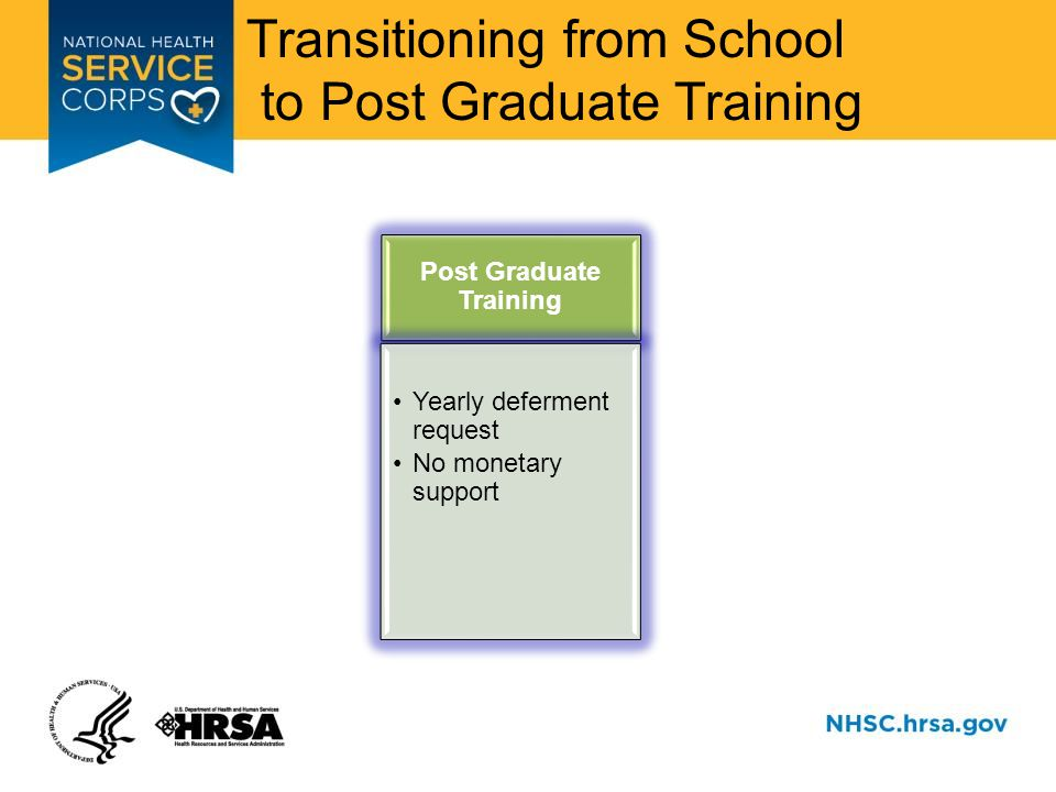 Transitioning from School to Post Graduate Training