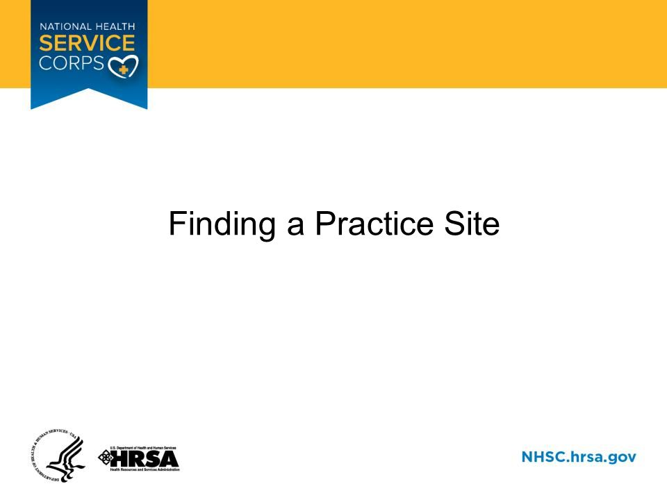 Finding a Practice Site