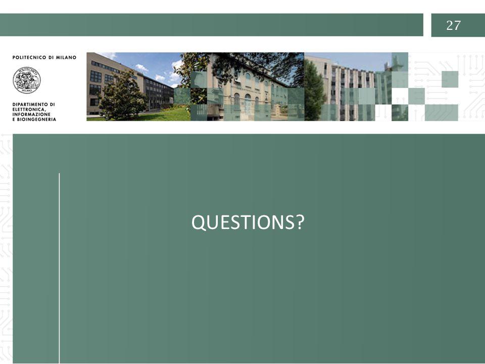 Prof. Carlo Fiorini 27 QUESTIONS