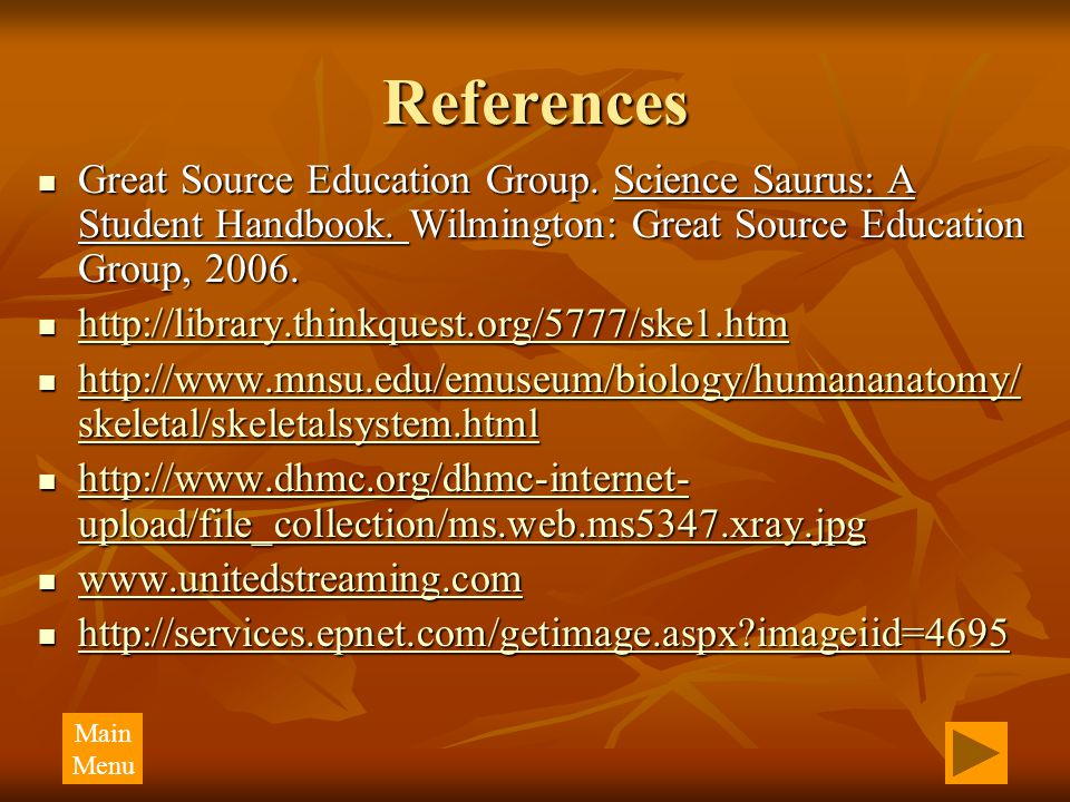 References Great Source Education Group. Science Saurus: A Student Handbook. Wilmington: Great Source Education Group, 2006. Great Source Education Gr