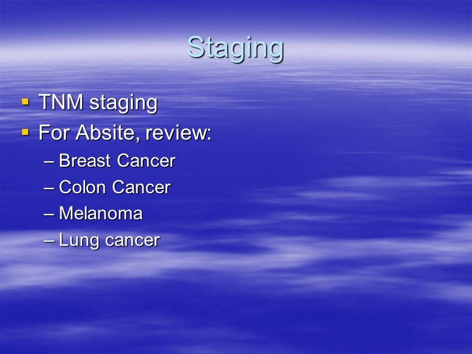 Tumor Markers MarkerCancerSensitivitySpecificity Prostate-specific antigen (PSA) Prostate57–9355–68 Carcinoembryonic antigen (CEA) Colorectal40–4790 Alpha-fetoprotein (AFP)Hepatocellular9865 Cancer antigen 19-9Pancreatic78–9095 Cancer antigen 125Ovarian Beta-HCGTesticular, Choriocarcinoma NSESmall cell lung Neuroblastoma