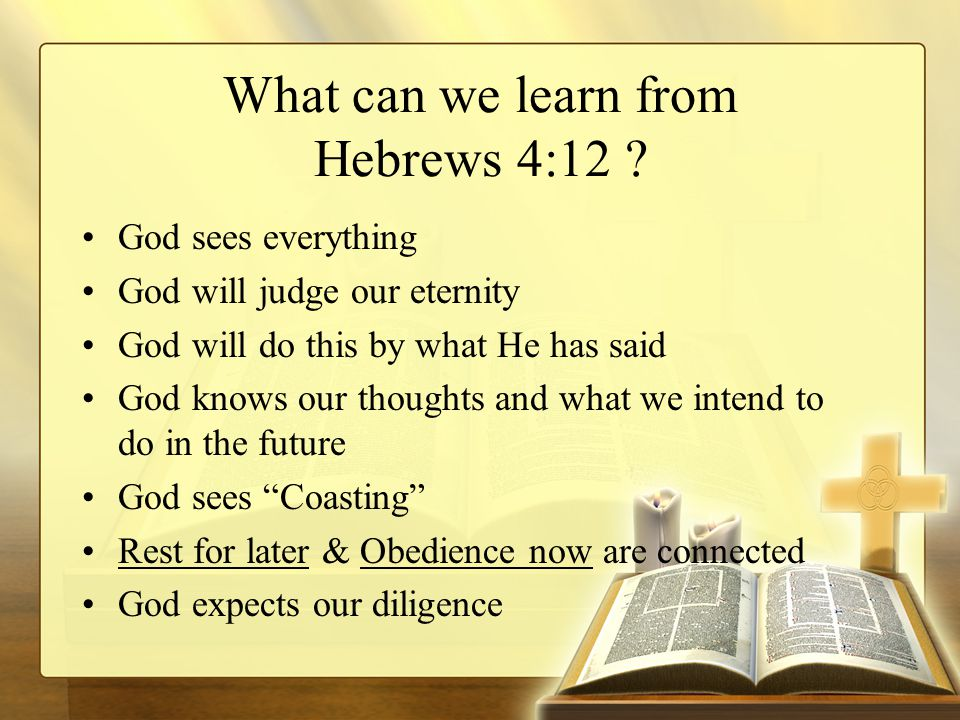 What can we learn from Hebrews 4:12 .