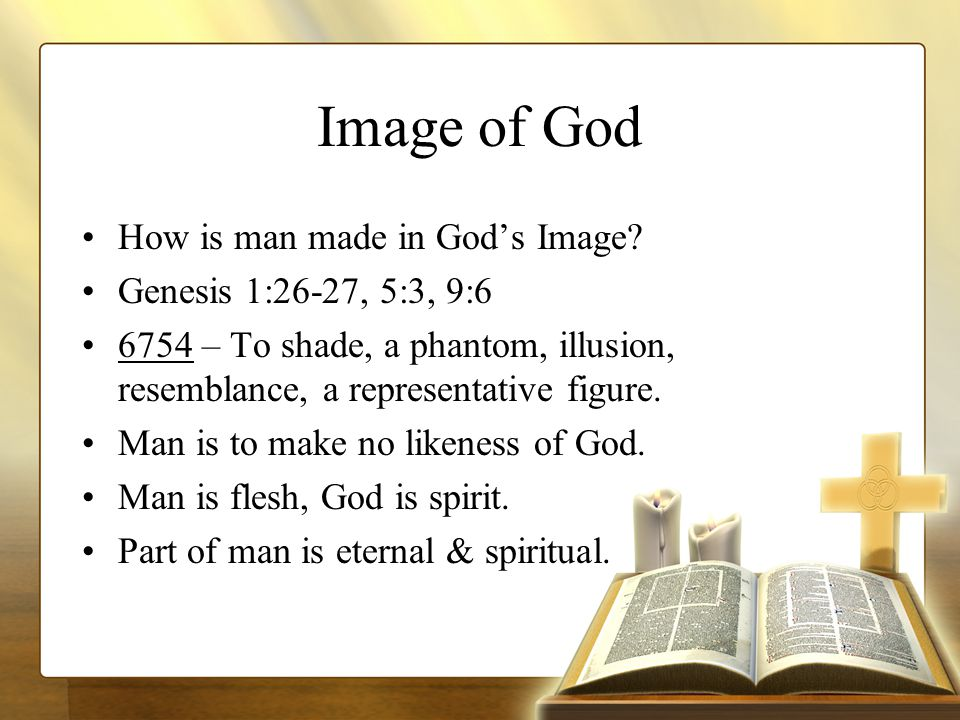 Image of God How is man made in God's Image.
