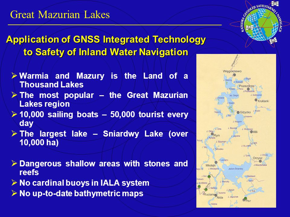 The inland waterways should be determined.