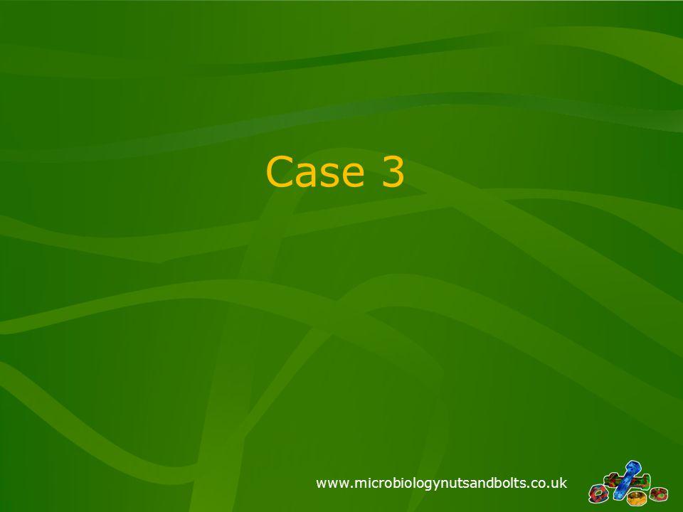 www.microbiologynutsandbolts.co.uk Case 3