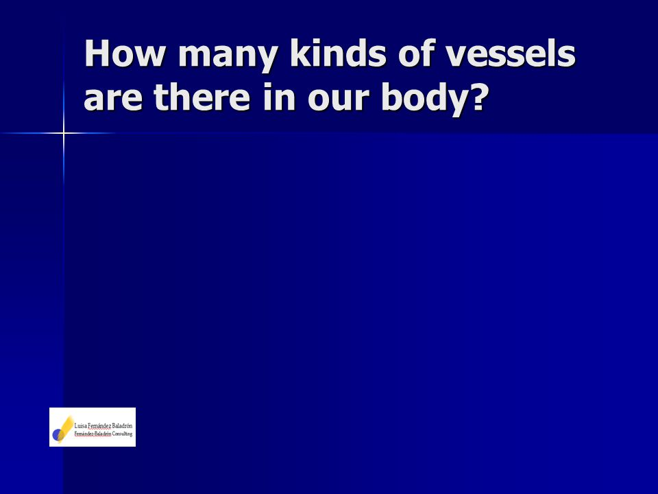 How many kinds of vessels are there in our body?