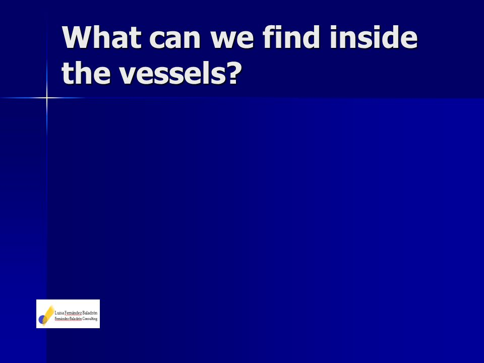 What can we find inside the vessels?