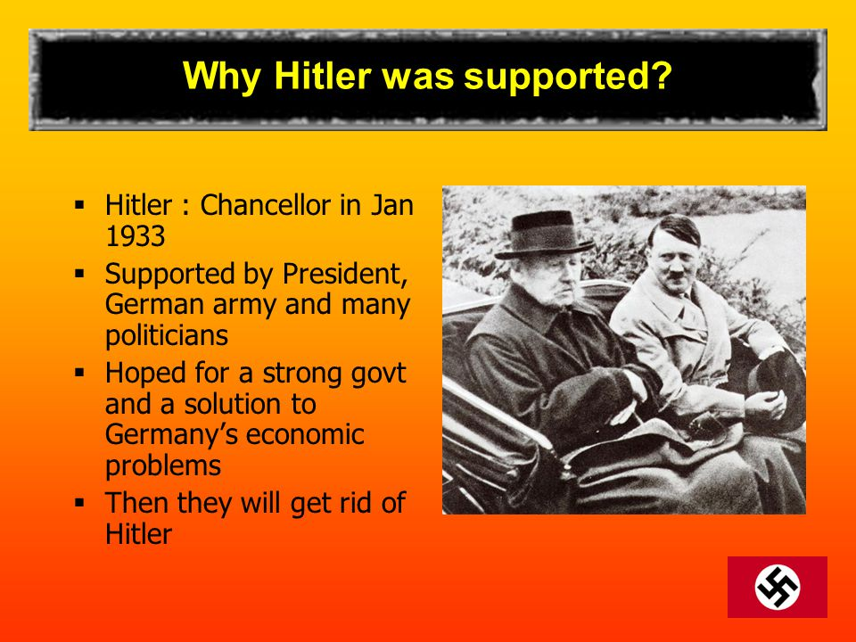 Why Hitler was supported.