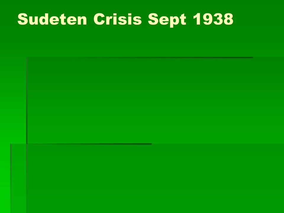 Sudeten Crisis Sept 1938