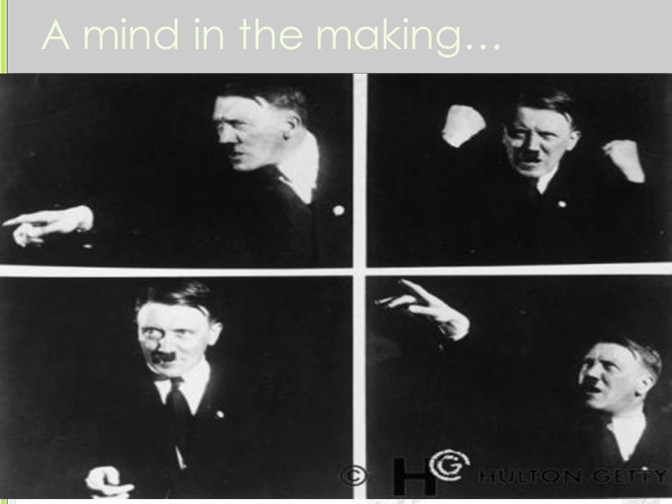 A mind in the making… 1924-1930 Hitler defended himself in court and attacked the government.