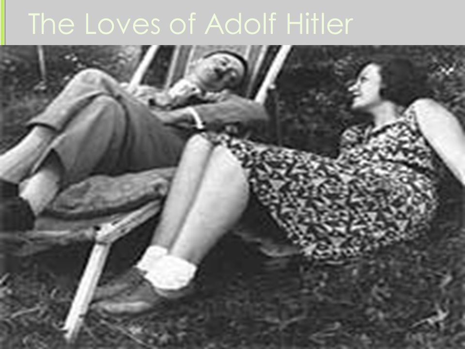 The Loves of Adolf Hitler Stephanie Jansten -Hitler never even met her, but admired her from afar -He meant to commit suicide with her Mitzi Reiter -a 16 year old who dated Hitler and tried to commit suicide by choking herself with a clothesline tied to the door Geli Raubal -the daughter of his half-sister who was 19 yrs.