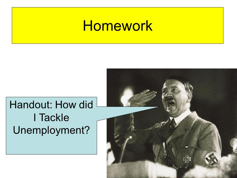 Homework Handout: How did I Tackle Unemployment?