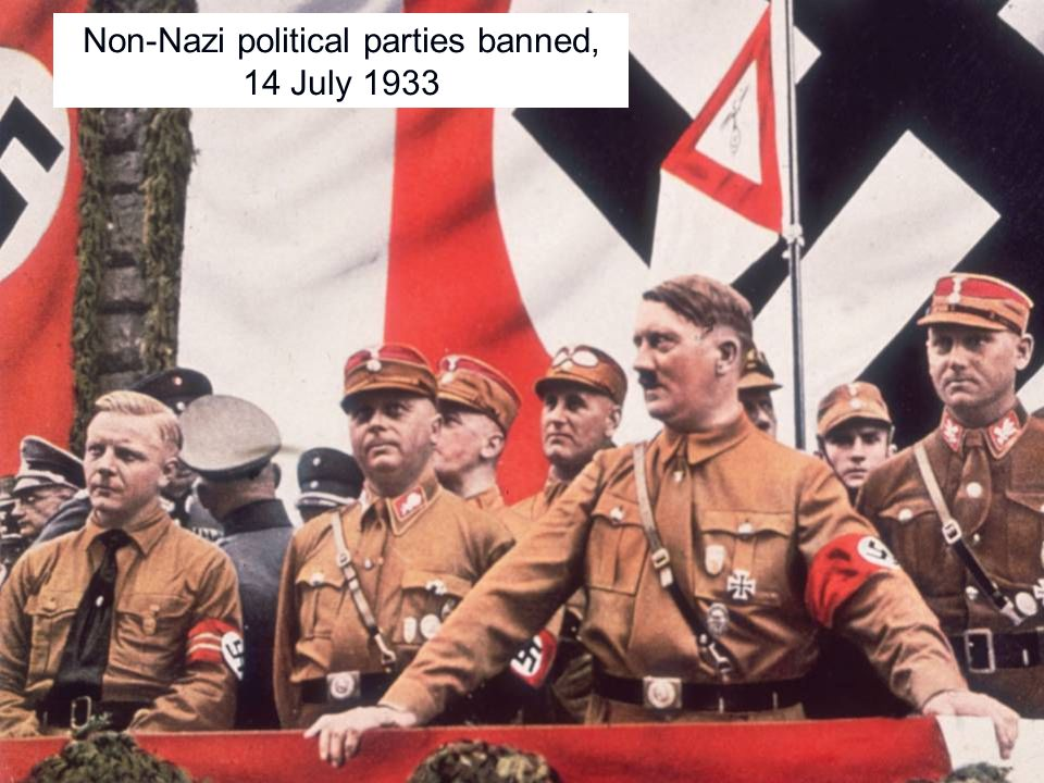 Non-Nazi political parties banned, 14 July 1933
