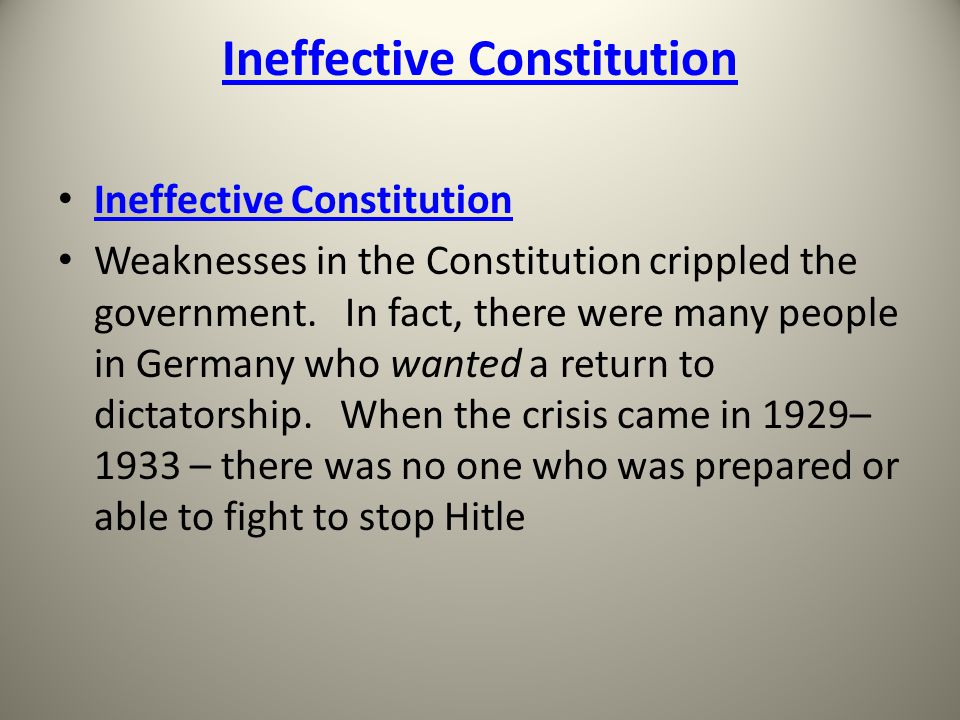 Ineffective Constitution Weaknesses in the Constitution crippled the government.