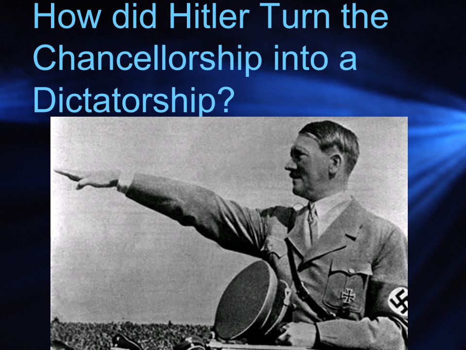 How did Hitler Turn the Chancellorship into a Dictatorship?