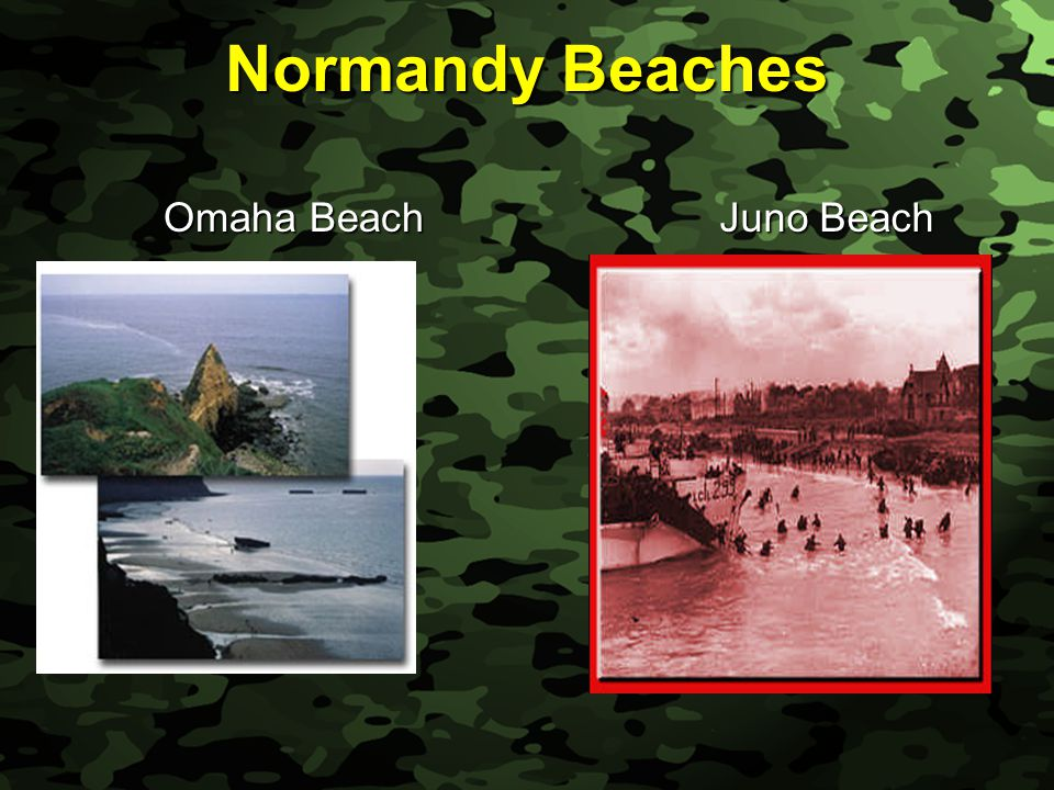 Slide 59 Normandy Beaches Omaha Beach Omaha Beach Juno Beach Juno Beach