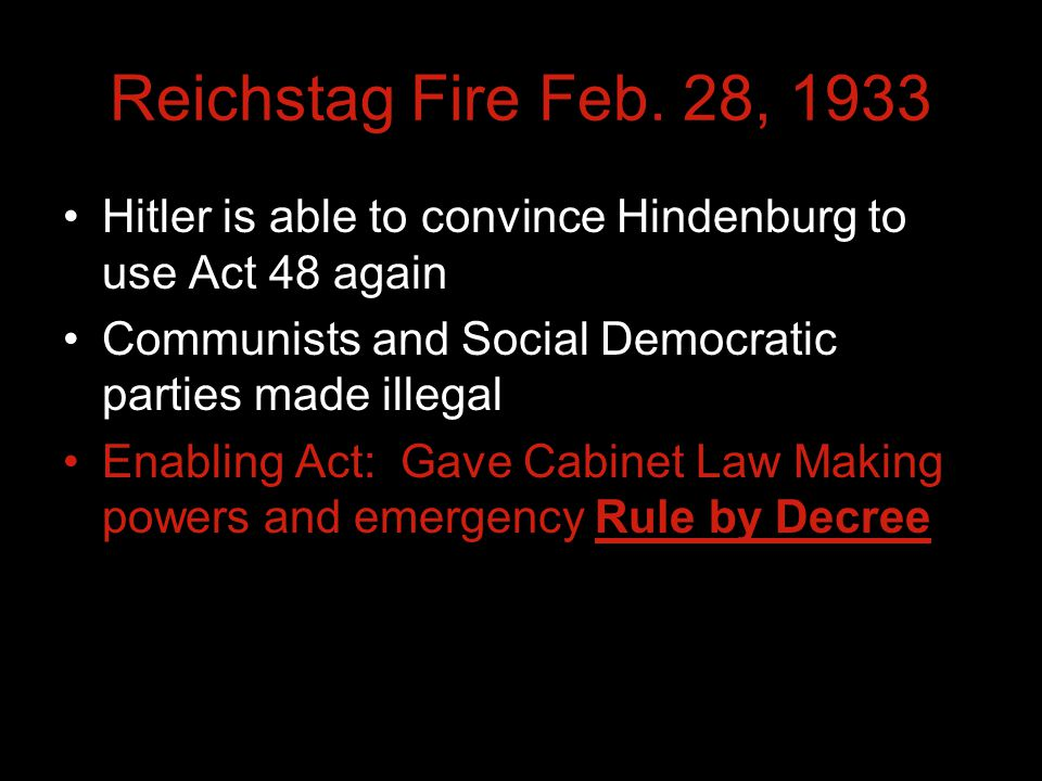 Reichstag Fire Feb.