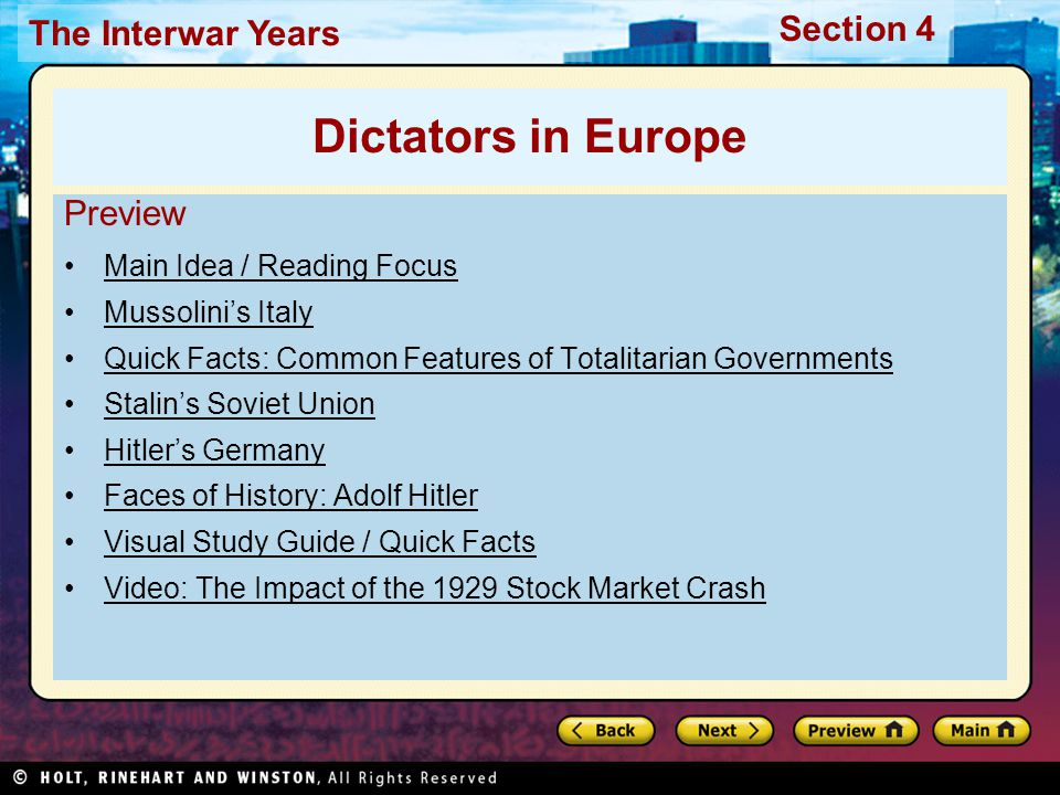 Section 4 The Interwar Years Summarize How did Stalin use fear and violence to rule the Soviet Union.