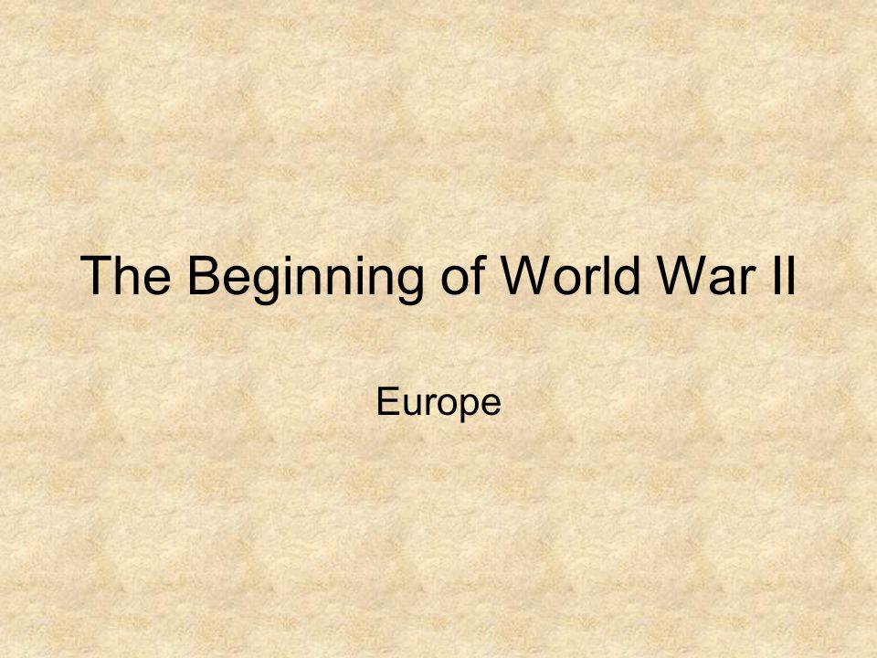 The Beginning of World War II Europe