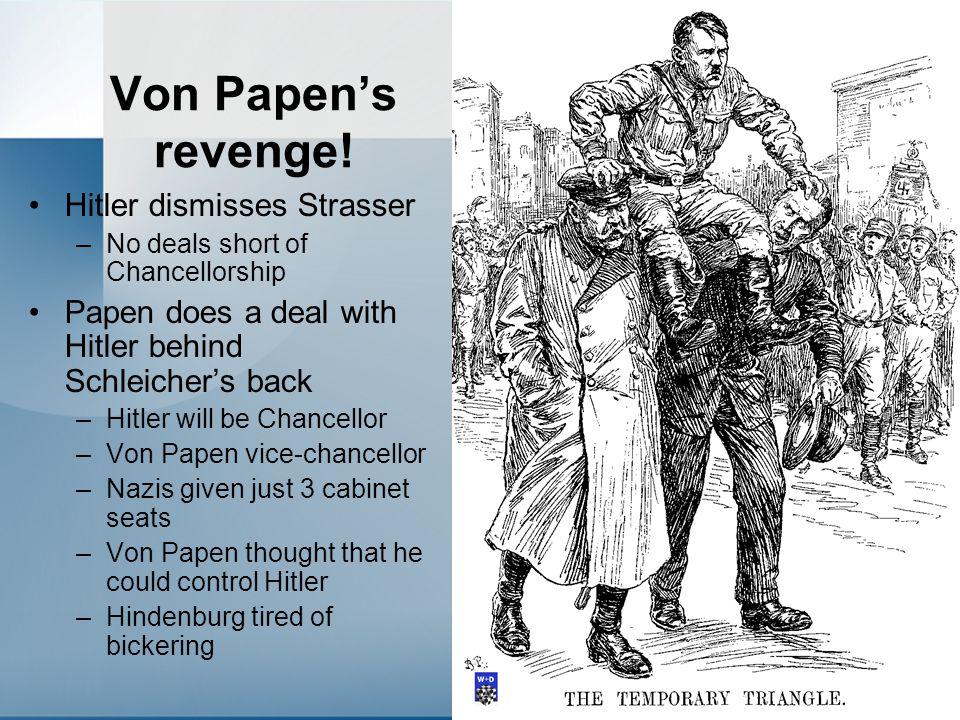 Von Papen's revenge.