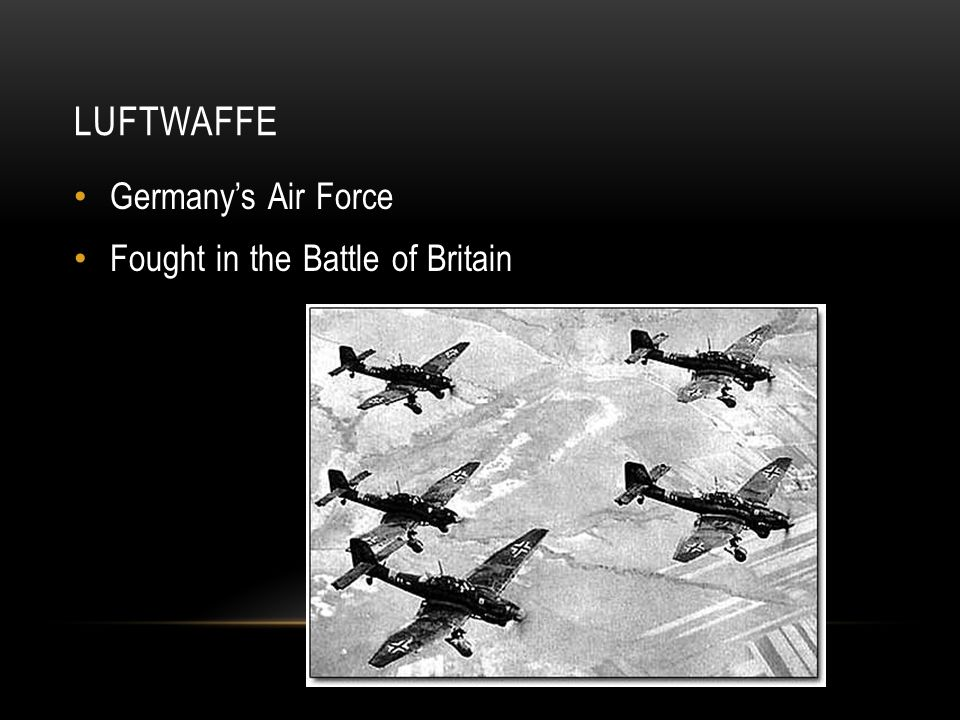 LUFTWAFFE Germany's Air Force Fought in the Battle of Britain