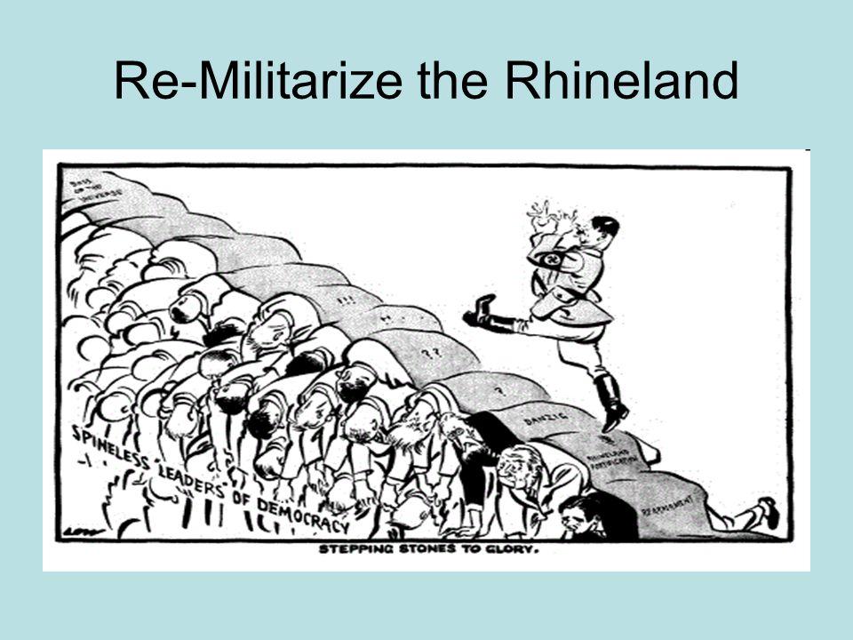 Re-Militarize the Rhineland