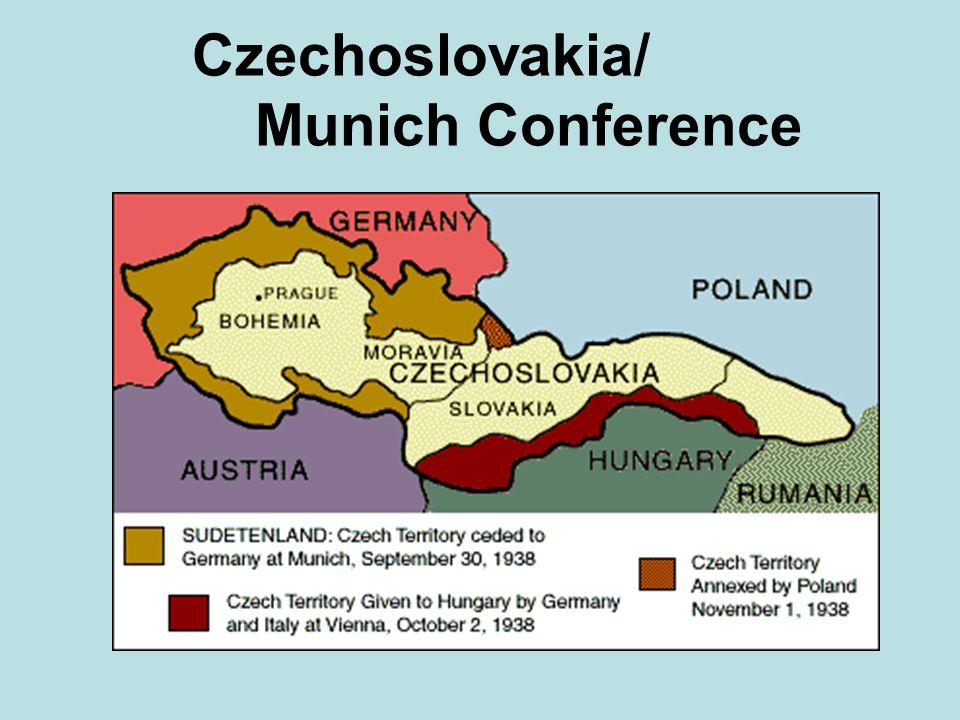 Czechoslovakia/ Munich Conference