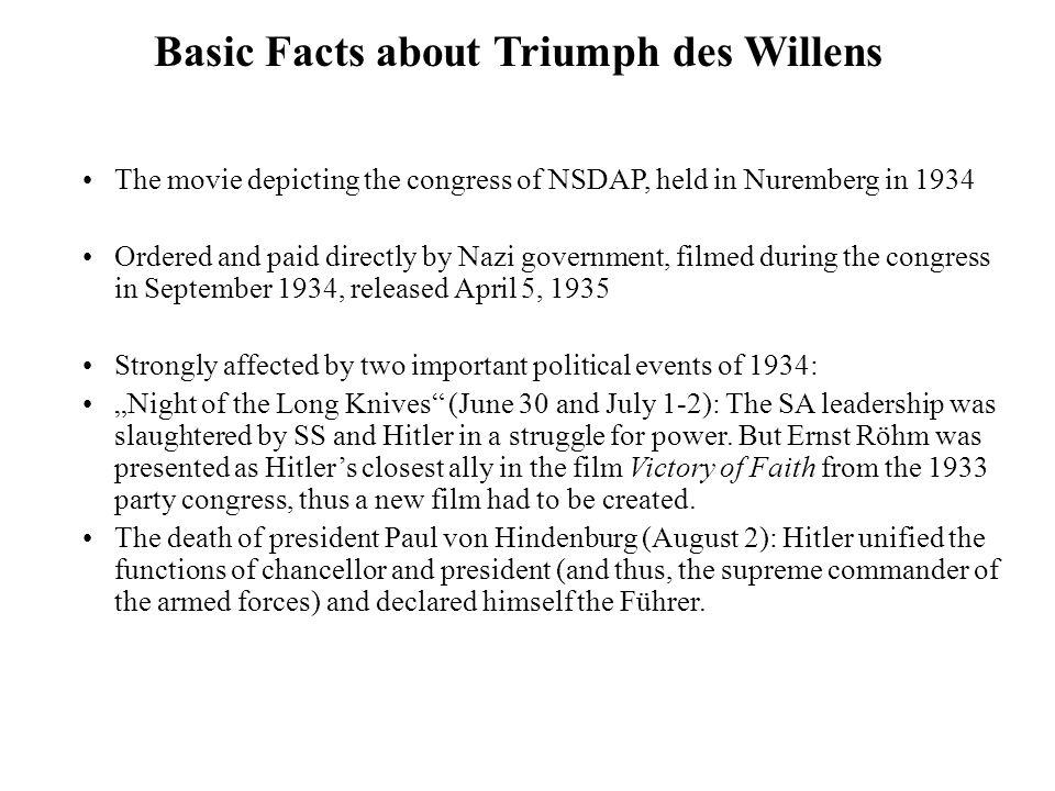 Sources Triumph des Willens (http://www.youtube.com/watch?v=GcFuHGHfYwE).