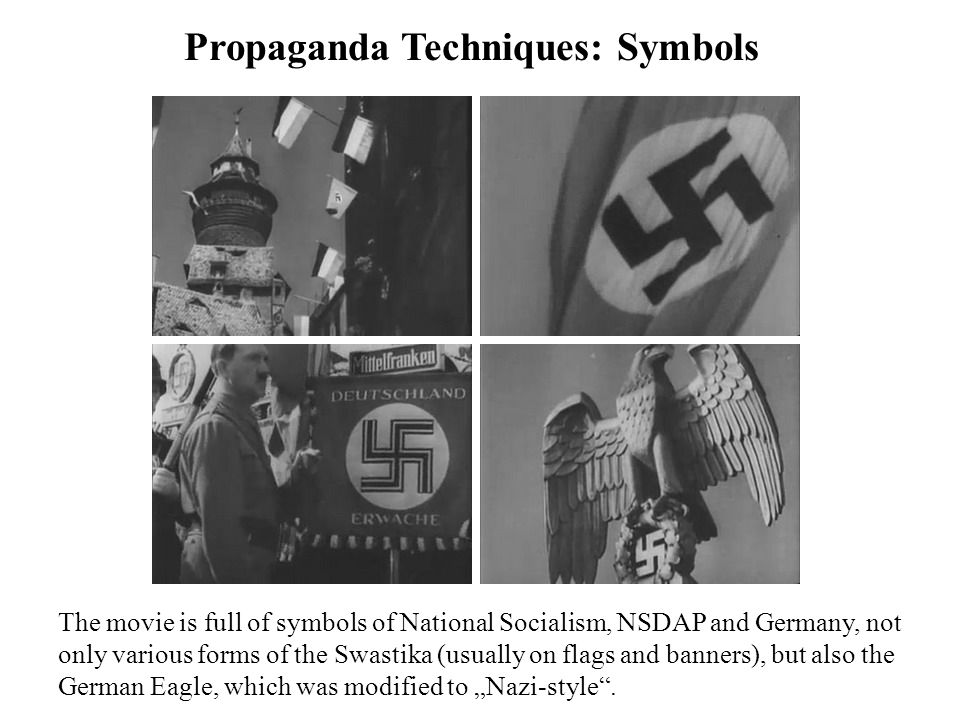 """Propaganda Techniques: Fire Fire was an important attribute of the Nazi movement, symbolizing the dynamism, revolution and """"action-style ."""