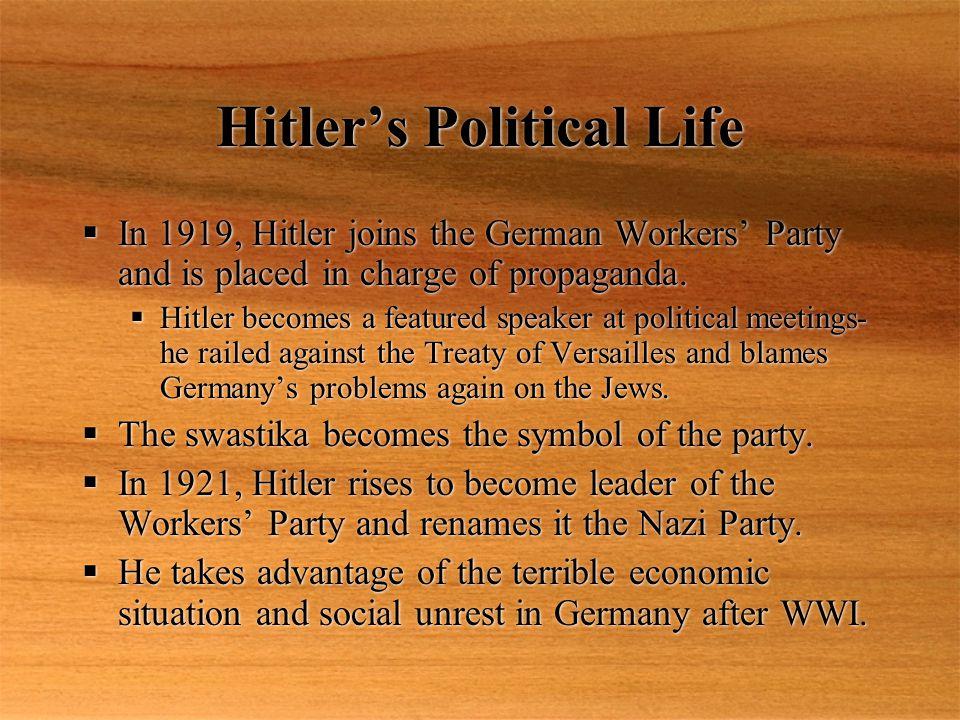 Hitler's Political Life cont….