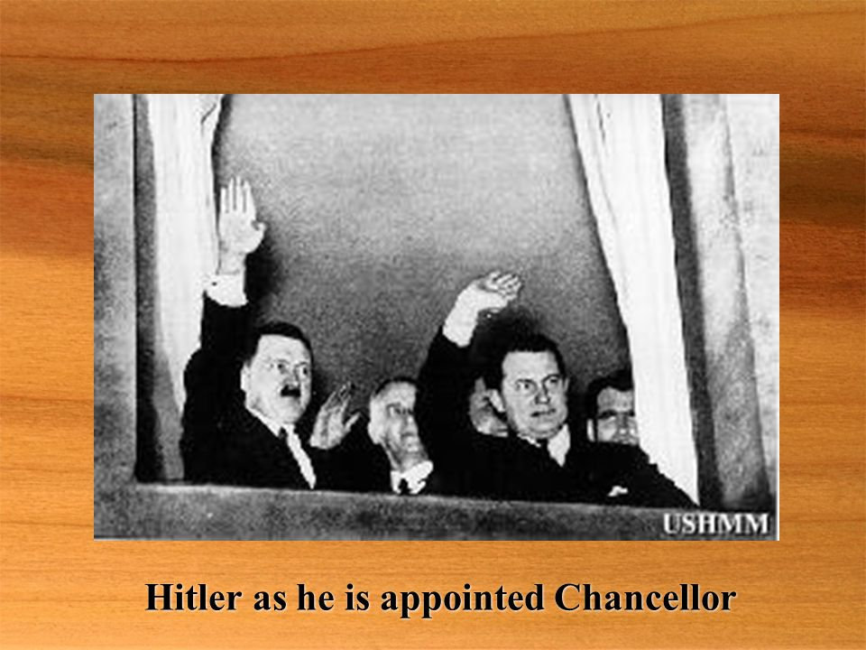 Hitler as he is appointed Chancellor