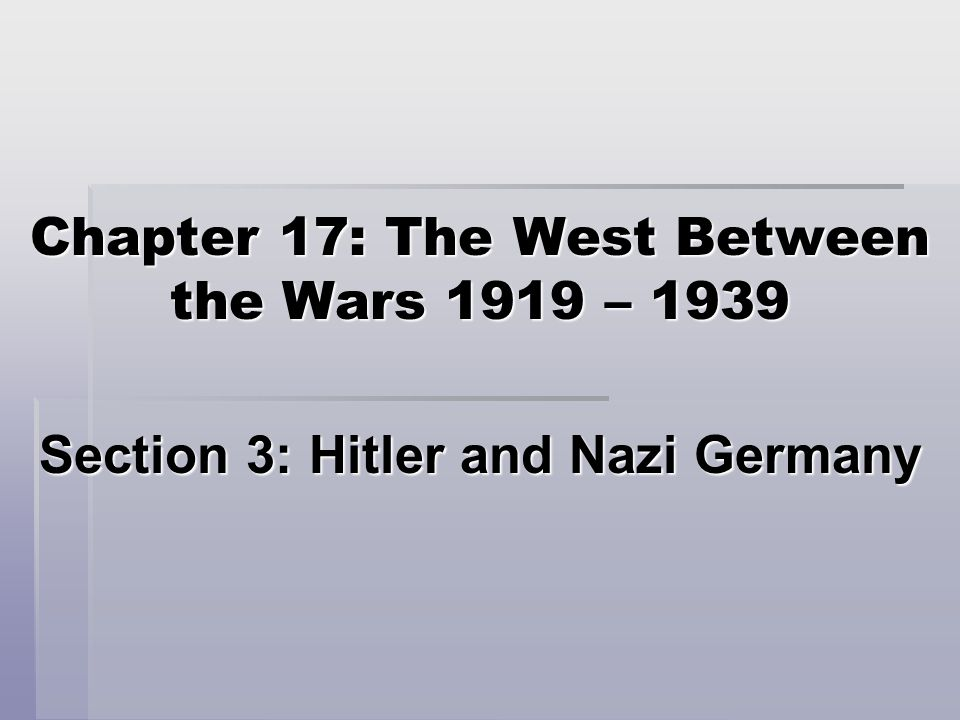- Hitler served four years during WWI, then entered politics in Germany.
