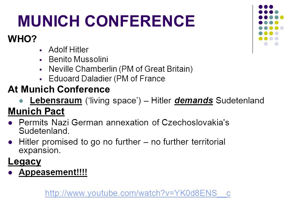 MUNICH CONFERENCE WHO.