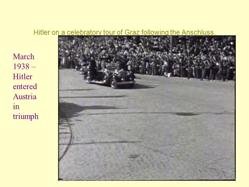 Hitler on a celebratory tour of Graz following the Anschluss.