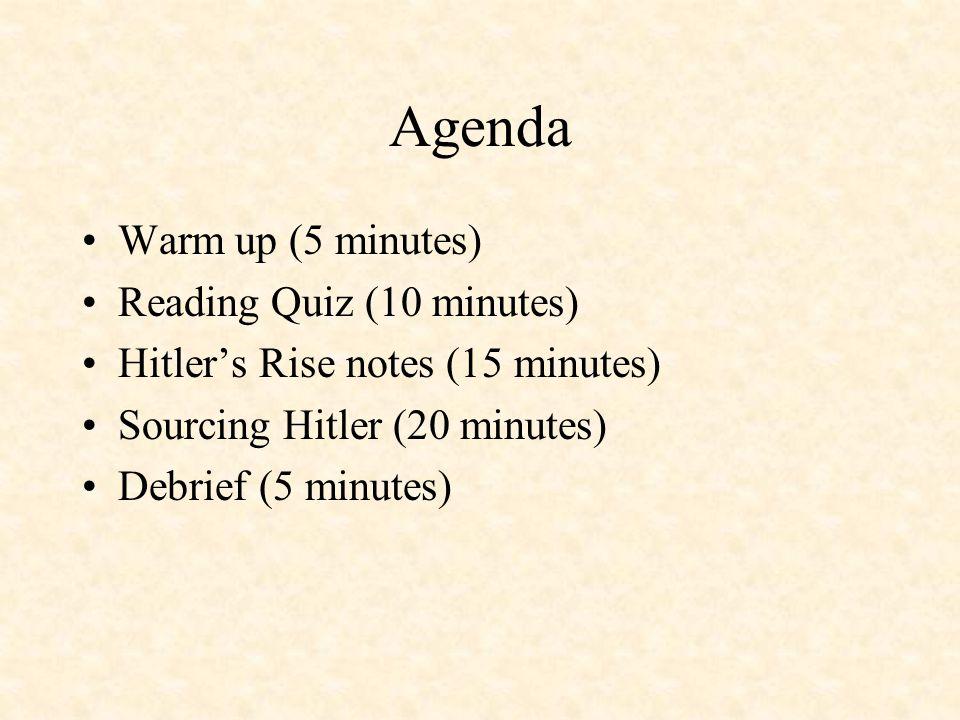 Hitler's Rise to Power 1933: Jan. 30: Hindenburg names Hitler Chancellor