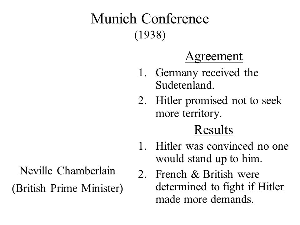 The Mood In Europe (1938) Oxford Debate Everyone wanted peace so a conference was organized to avoid bloodshed