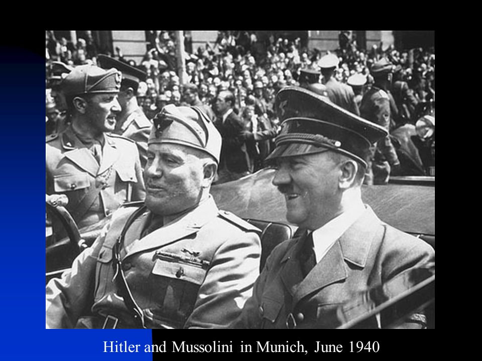 Hitler and Mussolini in Munich, June 1940