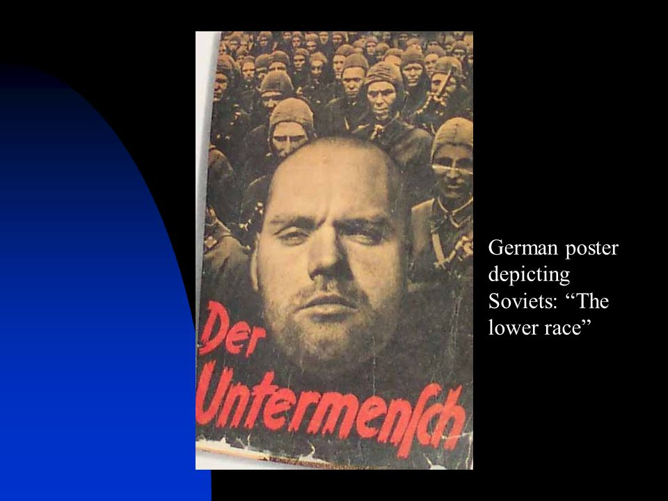 German poster depicting Soviets: The lower race