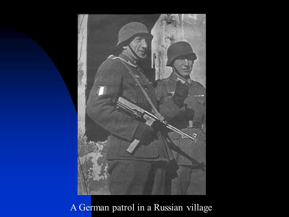 A German patrol in a Russian village