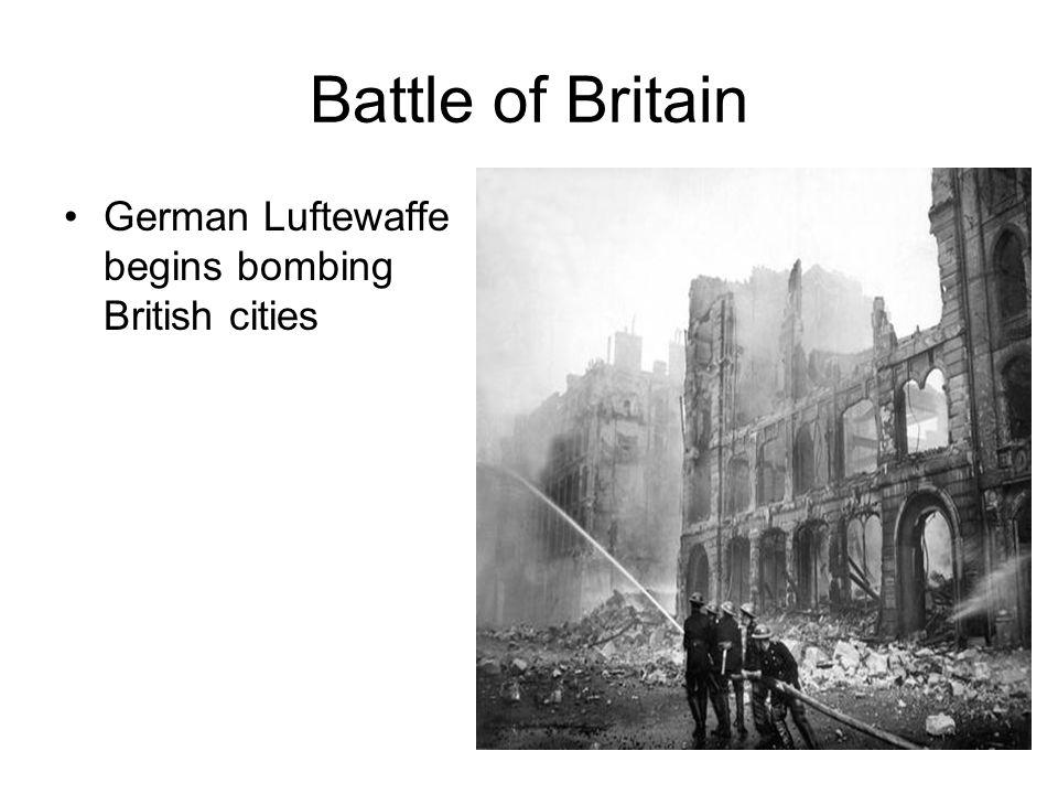 Battle of Britain German Luftewaffe begins bombing British cities