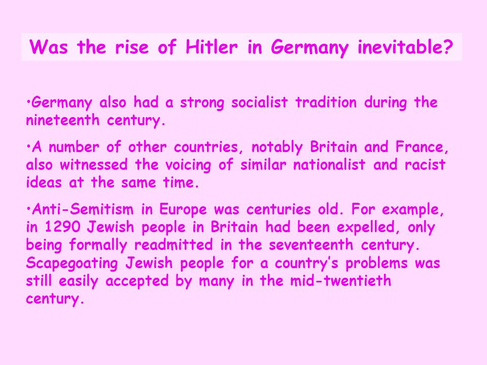 Germany also had a strong socialist tradition during the nineteenth century. A number of other countries, notably Britain and France, also witnessed t