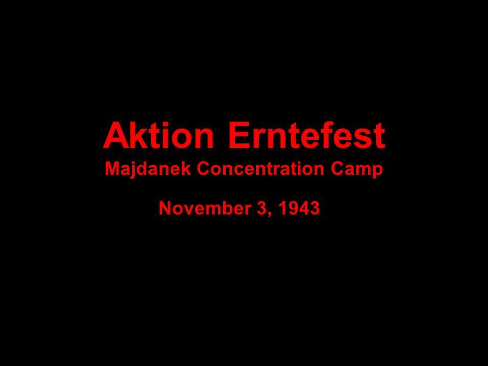 Aktion Erntefest Majdanek Concentration Camp November 3, 1943