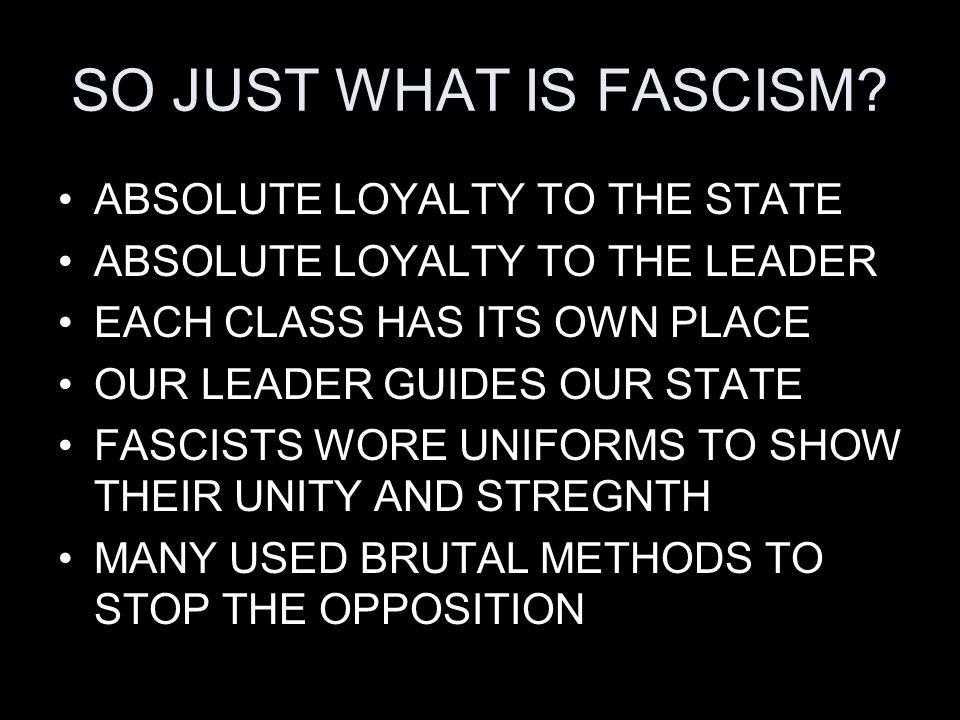 WHY DID FASCISM RISE.