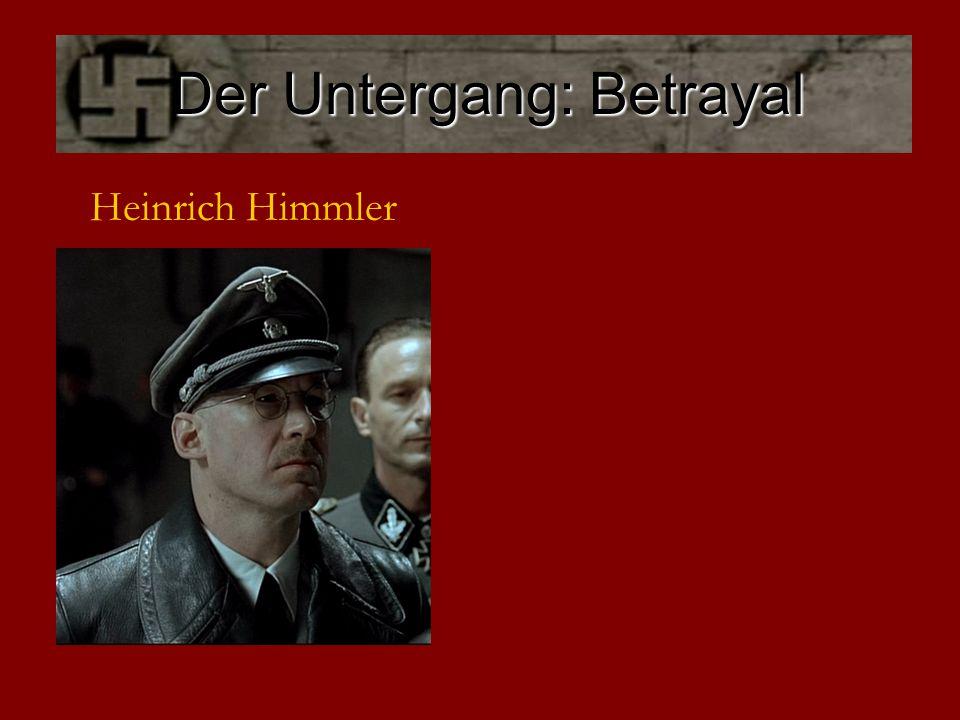 Der Untergang: Desertion Albert Speer