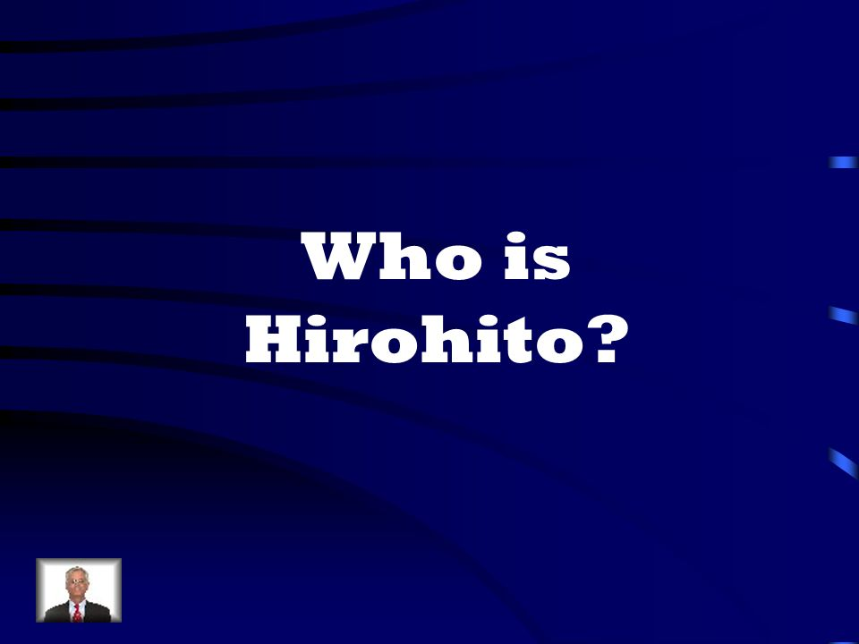 Who is Hirohito
