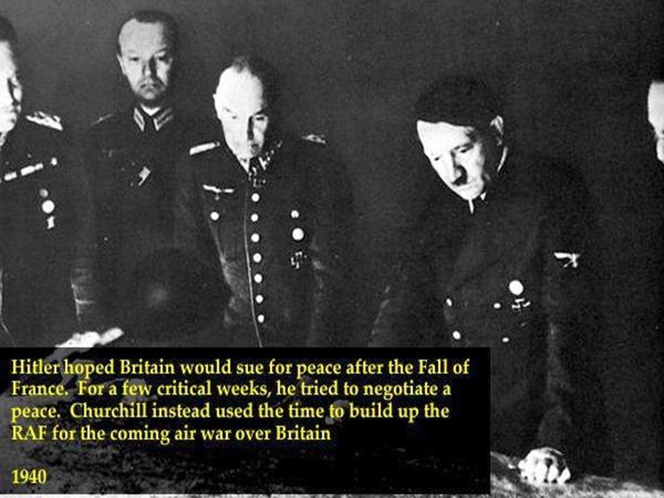 IV. The Battle of Britain A. Great Britain all alone! 1. 1940: Hitler bombs GB 2. Wants to win before U.S. joins B. Decoding 1. Britain decoded many G