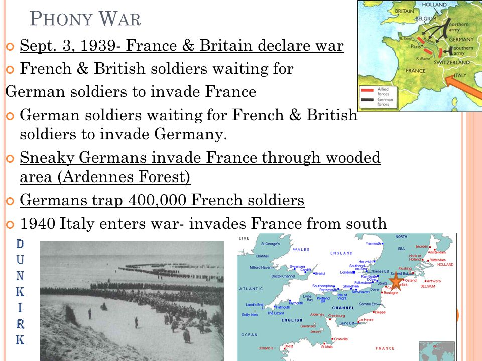 F RANCE F ALLS Resistance in France crumbles after Dunkirk Germans take Paris French leaders surrender Germans take N.
